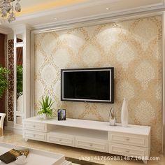 Creative Wall Decor, House Design, Home Living Room, Room Design, Wallpaper Living Room, 3d Living Room, Living Room Tv Unit Designs, Living Room Tv Wall, Living Room Designs