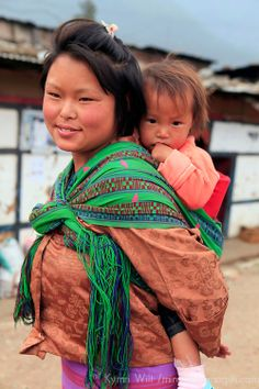 Mother and baby, Wangdu Phodrang, Bhutan Mother And Child Reunion, Mother And Baby, Mother And Father, We Are The World, People Of The World, Happy Baby, Life Is Beautiful, Beautiful People, Baby Carrying