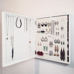 If youre like me, a fashion obsessed individual that is in love with organization and home decor, this is the perfect new addition to your lovely home! The idea to design a jewelry organizer came to me when I couldnt find anything that would display everything I owned in a beautiful,