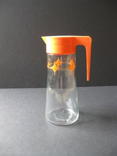 Vintage Anchor Hocking Tang Carafe Orange by FlatwaterAntiques, $13.00