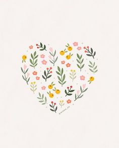 Delightful illustrations by designer Minna So. Graphic designer from Seattle, WA specializing in illustration and branding design. Valentines Illustration, Heart Illustration, Pencil Illustration, Watercolor Flowers, Watercolor Art, Graphic Design Company, May Designs, Floral Illustrations, Cute Drawings