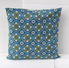 Set of TWO Rustic Medallion Decorative Pillow by creativeladys, $24.00