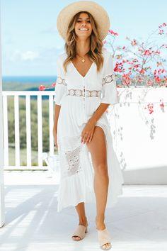 Wish You The Best Maxi Dress White. Chic OutfitekNyári RuhákNyári ... 57957bb152