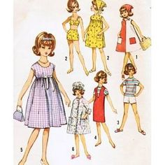 """Simplicity 5446 Tammy Doll Sewing Pattern, Wardrobe for 12""""... review at Kaboodle"""