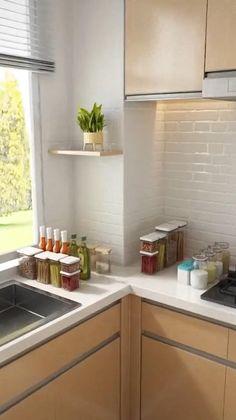 Kitchen Pantry Design, Diy Kitchen Storage, Modern Kitchen Design, Home Decor Kitchen, Interior Design Kitchen, Kitchen Furniture, Home Kitchens, Spice Storage, Under Kitchen Sink Organization