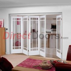 LPD Nuvu Doors Manhattan style white 6 door sets go on be different. & Lincoln White 3 Folding Doors Right - Clear Glass 2078mm high ...