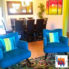 Upholstered Blue Chairs By Upholstery Works. Las Vegas, NV Http://www