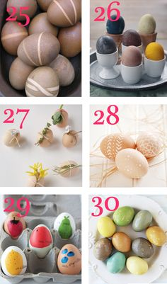 30 ways to color easter eggs......pretty much covers everything