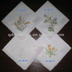 embroidered handkerchief $0.56~$1.10