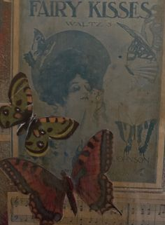 A recent collage I did. Butterflies represent a spirituality for me as I connect them with my grandmothers spirit. The remind me that I am constantly transforming and the fairies bring a gentle energy to it all. Grandmothers, Fairies, Butterflies, Connect, Spirituality, Collage, Bring It On, Painting, Art