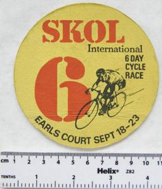 Vintage Beer Mat - Skol - International 6 Day Cycle Race, Earls Court | eBay