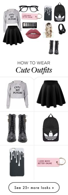 """Bored outfit #1"" by farzeenshussain on Polyvore featuring LE3NO, Topshop, Various Projects and Lime Crime"