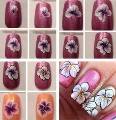 One stroke flower tutorial Nail Tutorials, Design Tutorials, One Stroke Nails, Nails First, Nail File, Flower Tutorial, Nail Arts, Pretty Nails, Swirls