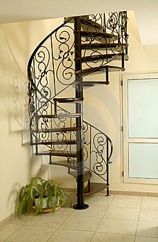 Spiral stairs loft metals interior design 41 ideas for 2019 Spiral Staircase Outdoor, Iron Staircase, Wrought Iron Stairs, Outdoor Stairs, Stair Railing, Staircase Design, Spiral Staircases, Escalier Art, Tiny House Stairs