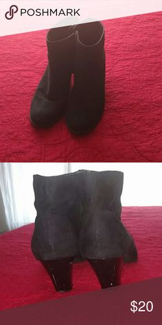 Cute Black Ankle Boots Barely worn, slight scuffing on back of heals. Super comfortable. They look cute with pants or with a dress and tights.   Please feel free to make an offer. I promise to either accept or counter ?? Style & Co Shoes Ankle Boots & Booties