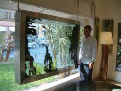 Fabricant d'aquarium tableau  sur mesure pour votre décoration intérieur design et original