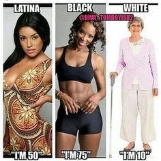 Yaaas black girls and Latina girls are lit yo. They are cool asf