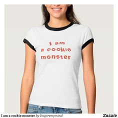 I am a cookie monster T-Shirt - Fashionable Women's Shirts By Creative Talented Graphic Designers - #shirts #tshirts #fashion #apparel #clothes #clothing #design #designer #fashiondesigner #style #trends #bargain #sale #shopping - Comfy casual and loose fitting long-sleeve heavyweight shirt is stylish and warm addition to anyone's wardrobe - This design is made from 6.0 oz pre-shrunk 100% cotton it wears well on anyone - The garment is double-needle stitched at the bottom and sleeve hems for…