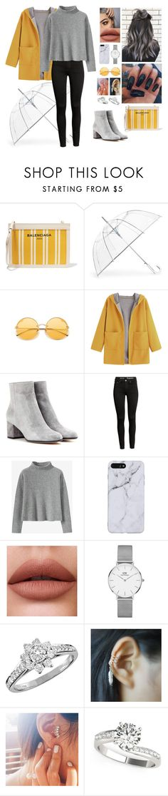 """Fall Outfit"" by aysuyucel ❤ liked on Polyvore featuring Balenciaga, ShedRain, Gianvito Rossi, Daniel Wellington and Tiffany & Co."