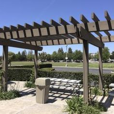 Eliminating fancy design elements keeps building a pergola as inexpensive as possible.