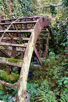 Rusty water wheel