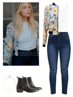 Hanna Marin - pll / pretty little liars by shadyannon on Polyvore featuring polyvore fashion style Sans Souci Pieces Sole Society clothing