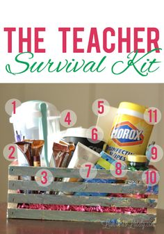 The Teacher Survival Kit - great list of things that any teacher would really appreciate for a back-to-school gift! #ad #SK