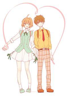 K. Sakura and L. Syaoran - Cardcaptor Sakura Clearcard Hen (art by Hnk)
