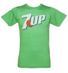 We're loving the vintage vibe of this 7-up logo tee. Featuring a distressed print of their iconic logo, it comes on a super soft heather green #tee for an ultra comfortable fit. xoxo #7Up #Retro #Tshirt