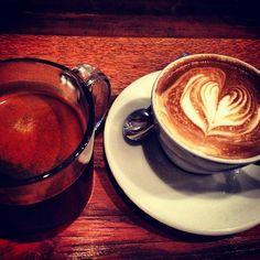"@xixili89's photo: ""Espresso time. #espresso #americano #latte #espressoart #art #heart #warm #nyc #newyork #queenskickshaw #astoria #queens"""