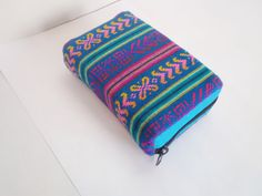 Zippered Book Cover - Paperback - Bible Cover - Journal Sleeve - Mexican Fabric - Custom Size - Mexican Decor MADE TO ORDER