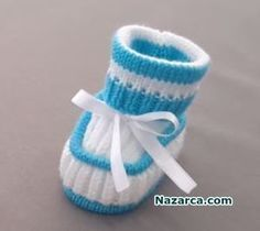 In Turkish video, Knitting Skewer with annotation from beginning to end. New Baby Booties model. Sevil is very skillful and clean for Baby Mothers… Baby Knitting Patterns, Baby Booties Knitting Pattern, Crochet Baby Boots, Knit Baby Booties, Knitted Baby Clothes, Knitting For Kids, Crochet For Kids, Knitting Socks, Baby Patterns