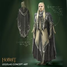 """Legolas concept art for """"The Hobbit: Desolation of Smaug"""" by Daniel Falconer. The lines and colors of this particular iteration of the elven prince's wardrobe are strongly reminiscent of his primary costume from the original trilogy. Hobbit Costume, Elven Costume, Legolas Costume, This Little Girl, Tolkien, Legolas And Thranduil, Wood Elf, Desolation Of Smaug, Middle Earth"""