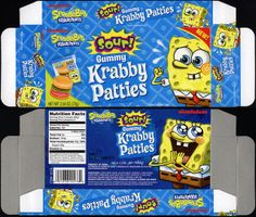 Frankford Candy - Nickelodeon - Spongebob Squarepants Gummy Krabby Patties Sour - candy box - 2011 | Flickr - Photo Sharing!