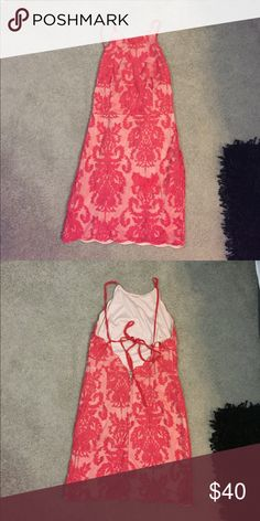 Lacy red dress Only worn once! Fits like a small/medium Dresses Mini
