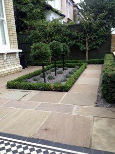 formal front garden design balham london