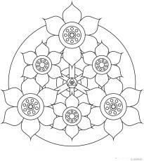 AMIND - Free printable mandalas coloring, Relaxing, Meditation