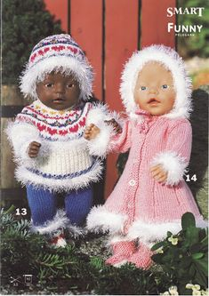 Ag Dolls, Reborn Dolls, Knitting Dolls Clothes, Doll Clothes, Doll Patterns, Knitting Patterns, Baby Born Clothes, Knit Crochet, Crochet Hats