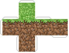 Grass  Minecraft Papercraft Mania cakepins.com