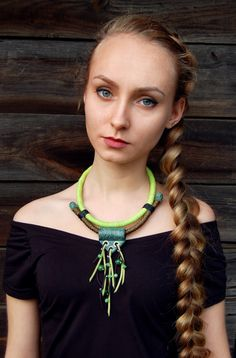 Statement necklace Bib necklace Rope necklace by Jewelry4UOnly