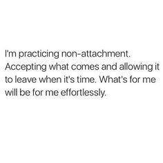 Non-attachment