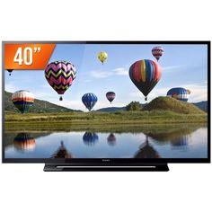 "Mega Mamute TV LED 40"" Sony Full HD 2 HDMI USB Conversor Digital Bravia KDL-40R355B - R$ 1.388 à Vista"