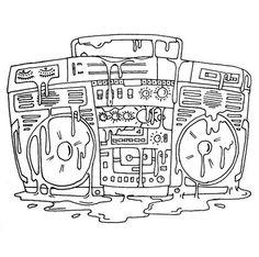 #BOOMBOX! #drawing #oldschool #90s #80s #hiphop #music #shoooesart