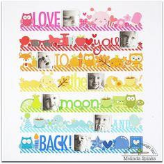 Love You #layout by Melinda Spinks for @doodlebug_inc  #scrapbook
