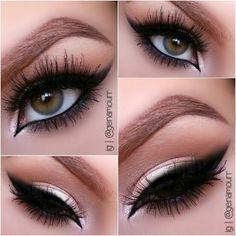 Soft Shadow with Smokey Eyeliner