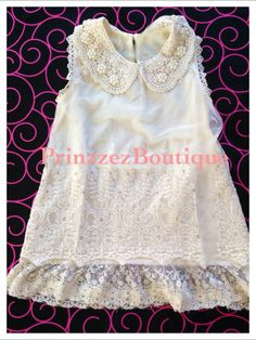 Ivory Lace Flower girl dress for any occasion by PrinzzezBoutique, $27.95