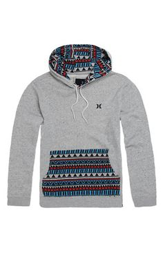 Hurley Sante Fe Pullover Hoodie - Mens Hoodie - Grey from PacSun. Dope Outfits, Casual Outfits, Fashion Outfits, Pullover Hoodie, Grey Hoodie, Hurley Clothing, Pacsun, Sweater Jacket, Dress Codes
