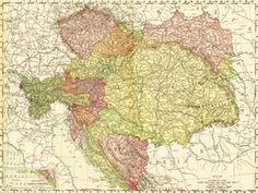 1895 Map of Bohemia, Moravia, Austria, Hungary & More