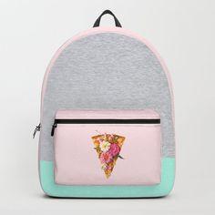 FLORAL PIZZA Backpack by paulfuentes #cutegiftideas #gift #Backpack Backpack Purse, Fashion Backpack, Coin Purse, Little Backpacks, Cool Backpacks, Kawaii Bags, Crocodile Handbags, Heritage Backpack, Designer Backpacks