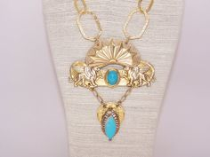 Egyptian revival vintage inspired necklace by BellizaKnightJewelry, $198.00